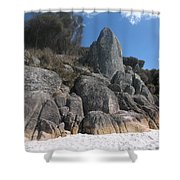 Bay Of Fires. Tasmania Shower Curtain