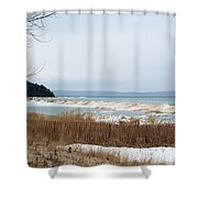 Beach And Ice Shower Curtain