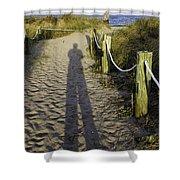 Beach Entry Shower Curtain