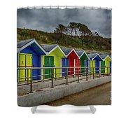 Beach Huts 1 Shower Curtain