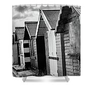 Beach Huts Shower Curtain