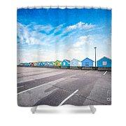 Beach Huts Shower Curtain