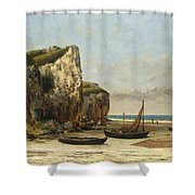 Beach In Normandy Shower Curtain