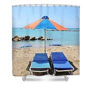 Beach Resort Shower Curtain