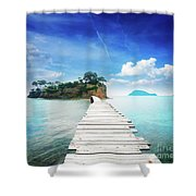 Agios Sostis Shower Curtain