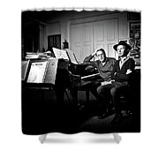 Beck And Philip Glass Photographed By Anna Webber, September 23rd, Shower Curtain