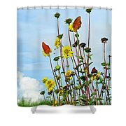 2 Bees Or Not 2 Bees Shower Curtain