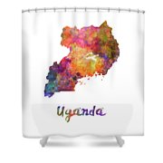 New Hampshire Us State In Watercolor Text Cut Out Shower Curtain