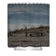 2 Benches Shower Curtain