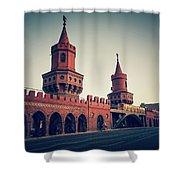 Berlin - Oberbaum Bridge Shower Curtain