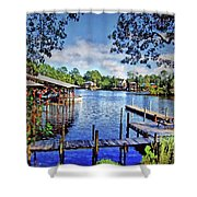 Big Daddy's Harbor Shower Curtain