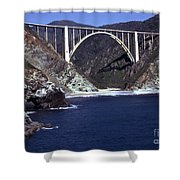 Bixby Creek Aka Rainbow Bridge Bridge Big Sur Photo  Shower Curtain