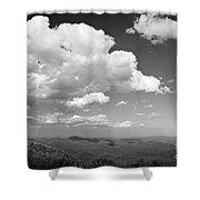 Black And White Blue Ridge Mountains Shower Curtain