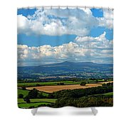 Black Mountains And Vale Of Usk Shower Curtain