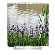 Blue Daffodils Shower Curtain