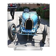 Blue Oldtimer Shower Curtain