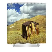 Bodie Outhouse Shower Curtain