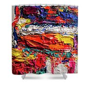 Boom Of The Tingling Strings Shower Curtain