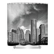 Boston Skyline 1980s Shower Curtain