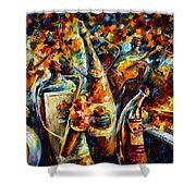 Bottle Jazz Shower Curtain