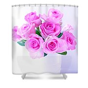 Bouquet Of Pink Roses Shower Curtain
