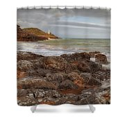 Bracelet Bay And Mumbles Lighthouse Shower Curtain
