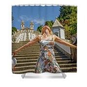 Braga Portugal Woman Shower Curtain