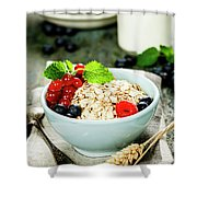 Breakfast With Oats And Berries Shower Curtain