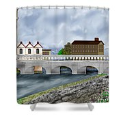Bridge In Old Galway Ireland Shower Curtain