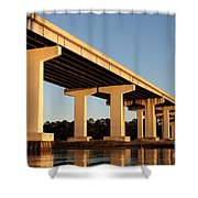 Bridge Pilings Shower Curtain