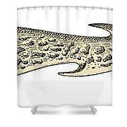 Bronze Age Barbed Point Harpoon Shower Curtain