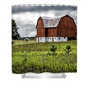 Brutus Barn Shower Curtain