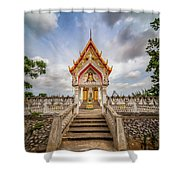 Buddhist Temple Shower Curtain by Adrian Evans