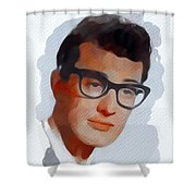 Buddy Holly, Music Legend Shower Curtain