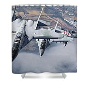 Bulgarian And Polish Air Force Mig-29s Shower Curtain