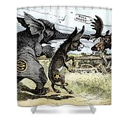 Bull Moose Campaign, 1912 Shower Curtain