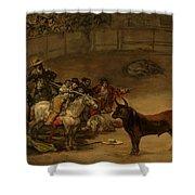 Bullfight - Suerte De Varas Shower Curtain