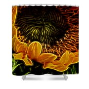 Burning Sun.. Shower Curtain
