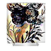 Butterfly Sketch Shower Curtain