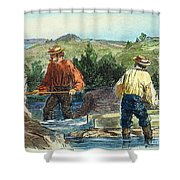 California Gold Rush Shower Curtain