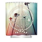 California Palms I Shower Curtain