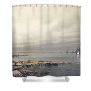 Calm Before A Storm Shower Curtain