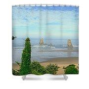 Cannon Beach, Oregon Shower Curtain