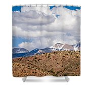 Canyon Badlands And Colorado Rockies Lanadscape Shower Curtain