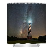 Cape Hatteras Lighthouse Milky Way Shower Curtain