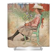 Carl Larsson, Dagmar Grill Shower Curtain