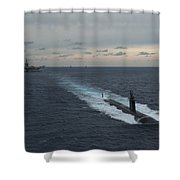 Carrier Strike Group Formation Of Ships Shower Curtain