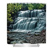 Cascadilla Gorge Falls Shower Curtain