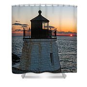 Castle Hill Light Newport Rhode Island Shower Curtain