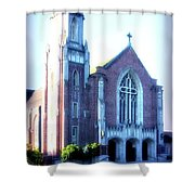 Cathedral Of The Annunciation 2 Shower Curtain